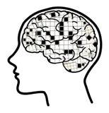 Colagem 2 do cérebro das palavras cruzadas Imagem de Stock