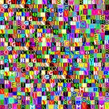 Colagem abstrata de letras coloridas Imagens de Stock Royalty Free