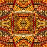 Colagem africana dos motivos feita de retalhos de matéria têxtil ilustração stock