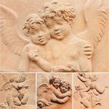 Colagem angélico Imagens de Stock