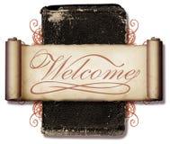 Colagem bem-vinda Foto de Stock Royalty Free