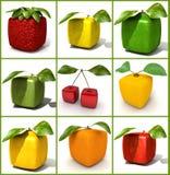 Colagem cúbica da fruta Fotografia de Stock Royalty Free