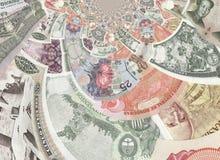 Colagem calidoscópico das cédulas Foto de Stock Royalty Free