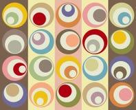 Colagem colorida retro dos círculos Fotos de Stock Royalty Free