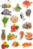 Colagem com alimentos Imagens de Stock Royalty Free