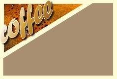 Colagem com detalhes do café ilustração royalty free