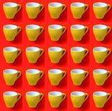 Colagem com o copo do café no estilo do pop art Foto de Stock Royalty Free