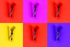Colagem com o roupa-Peg no estilo do pop art imagem de stock royalty free