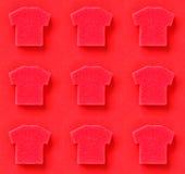Colagem com os t-shirt no estilo do pop art Fotos de Stock