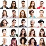 Colagem com retratos múltiplos Fotos de Stock