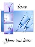 Colagem com vidros. Imagens de Stock