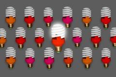 Colagem cor-de-rosa isolada da ideia do líder no fundo contínuo Imagem de Stock