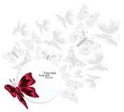 Colagem criativa com borboletas ilustração stock