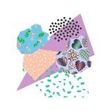 Colagem criativa do appliqué com texturas e testes padrões diferentes ilustração stock
