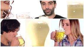 Colagem da cerveja video estoque