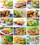 Colagem da composição da salada Fotografia de Stock
