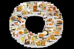 Colagem da culinária do mundo Imagem de Stock Royalty Free
