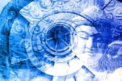 Colagem da cultura de Ásia Imagem de Stock