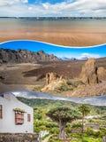 Colagem da Espanha Europa do Tenerife Foto de Stock Royalty Free