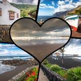 Colagem da Espanha Europa do Tenerife Fotos de Stock Royalty Free