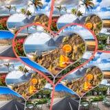 Colagem da Espanha Europa do Tenerife Fotografia de Stock Royalty Free