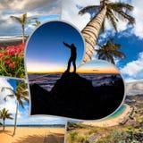Colagem da Espanha Europa do Tenerife Imagem de Stock Royalty Free