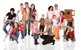 Colagem da família fotos de stock royalty free