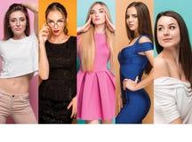 Colagem da forma das imagens de jovens mulheres bonitas Meninas 'sexy' bonitas Fotografia de Stock