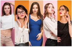 Colagem da forma das imagens de jovens mulheres bonitas Meninas 'sexy' bonitas Imagem de Stock