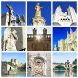 Colagem da foto de Avignon - ao sul de França Imagem de Stock Royalty Free