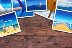 Colagem da foto do beira-mar imagens de stock royalty free
