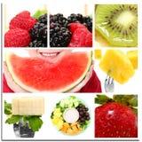 Colagem da fruta Fotos de Stock