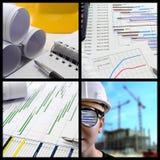 Colagem da gestão do projecto foto de stock