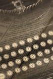 Colagem da máquina de escrever do vintage Fotografia de Stock