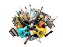 Colagem da música imagens de stock royalty free