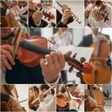Colagem da música clássica fotos de stock royalty free