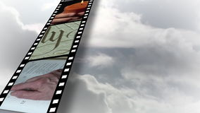 Colagem da metragem religiosa 4 vídeos de arquivo