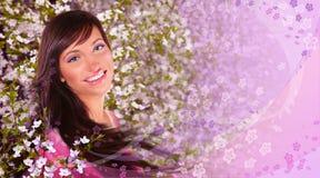 Colagem da mulher da mola Imagem de Stock Royalty Free