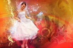 Colagem da noiva Fotos de Stock