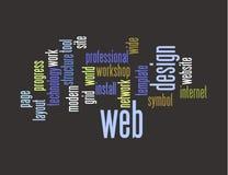 Colagem da palavra do projeto de Web Foto de Stock Royalty Free