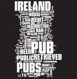 Colagem da palavra do Pub Imagens de Stock