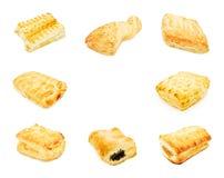 Colagem da pastelaria de sopro fotos de stock