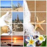Colagem da praia do verão Fotos de Stock Royalty Free
