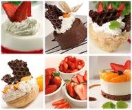 Colagem da sobremesa imagem de stock