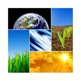 Colagem da terra - textura da terra por NASA.gov Fotografia de Stock Royalty Free