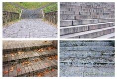 Colagem da textura bonita das escadas Imagem de Stock