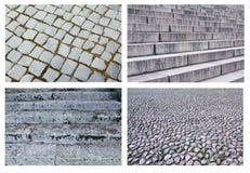 Colagem da textura bonita das escadas e do pavimento Fotografia de Stock Royalty Free