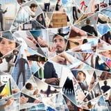 Colagem da vida empresarial fotografia de stock royalty free