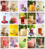 Colagem das bebidas Fotografia de Stock