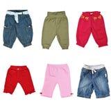 Colagem das calças para o bebê Foto de Stock Royalty Free